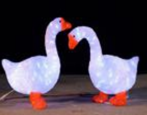 Lampu LED Motif Angsa 3D