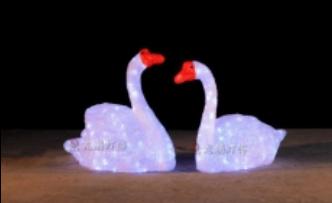 Lampu LED Motif Angsa Duduk 3D