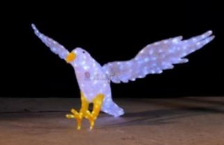 Lampu LED Motif Elang 3D