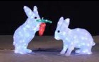 Lampu LED Motif Kelinci 3D