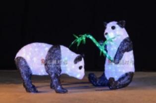 Lampu LED Motif Panda 3D