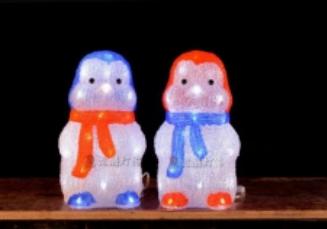 Lampu LED Motif Pinguin Kecil 3D