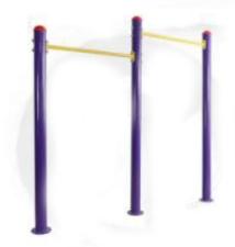 Peralatan Fitness Taman GCJT17-7801 Duplex Horizontal Bar