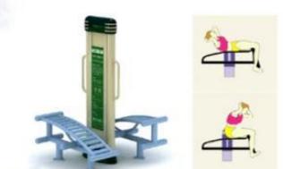 Peralatan Fitness Taman GCJT17-7901 Luxury Double Sit-up Board