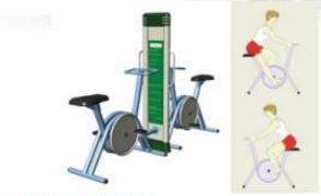 Peralatan Fitness Taman GCJT17-8201 Luxuri double exercise bike