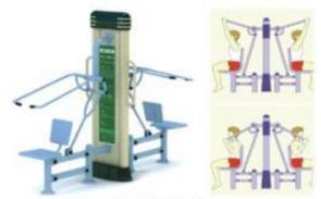 Peralatan Fitness Taman gcjt17-8002 Luxury Double Sit Pulling Trainners